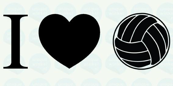 auto sticker • I love volleybal
