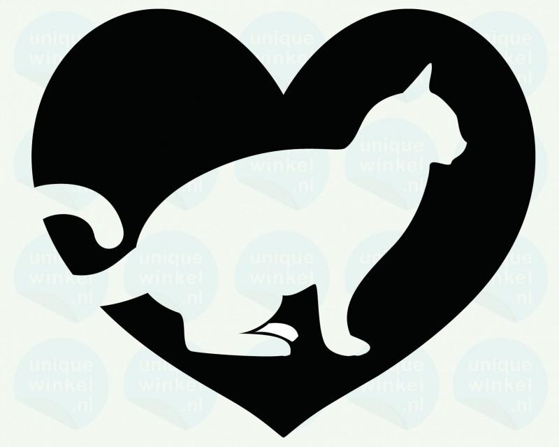 auto sticker • mijn lieve kat