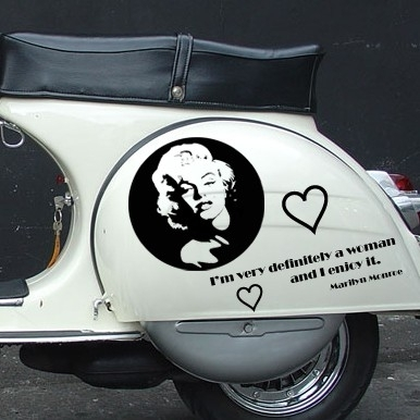 scooter stickers • Marilyn Monroe