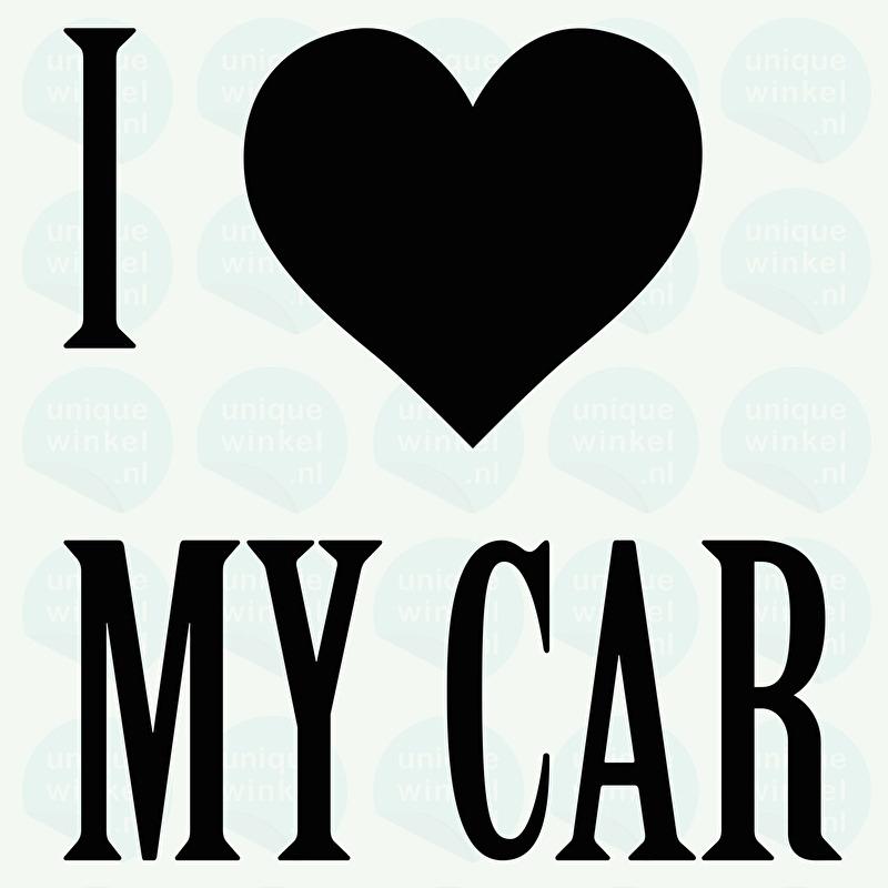 auto sticker • I love my car