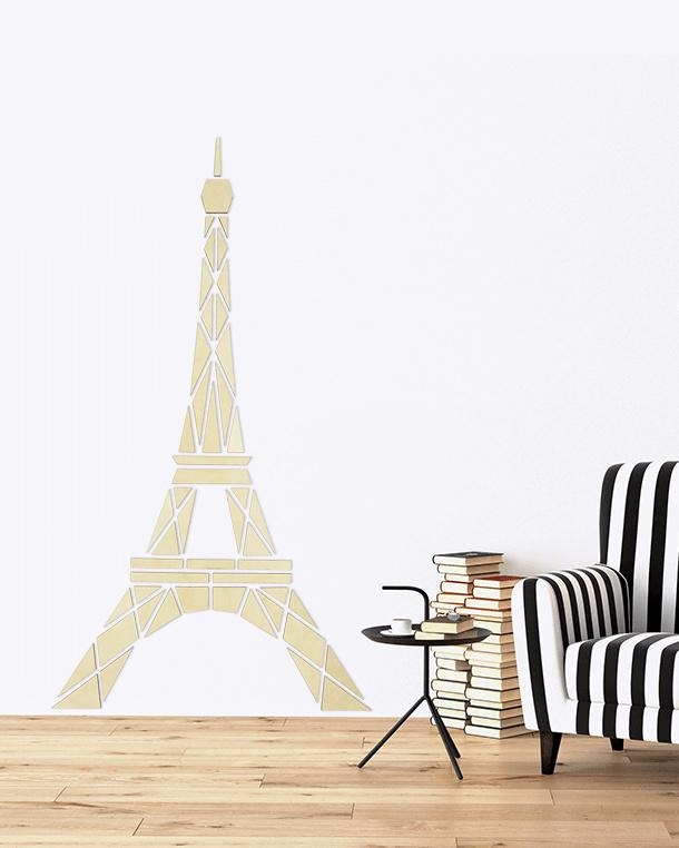 houten wanddecoratie • Eiffeltoren