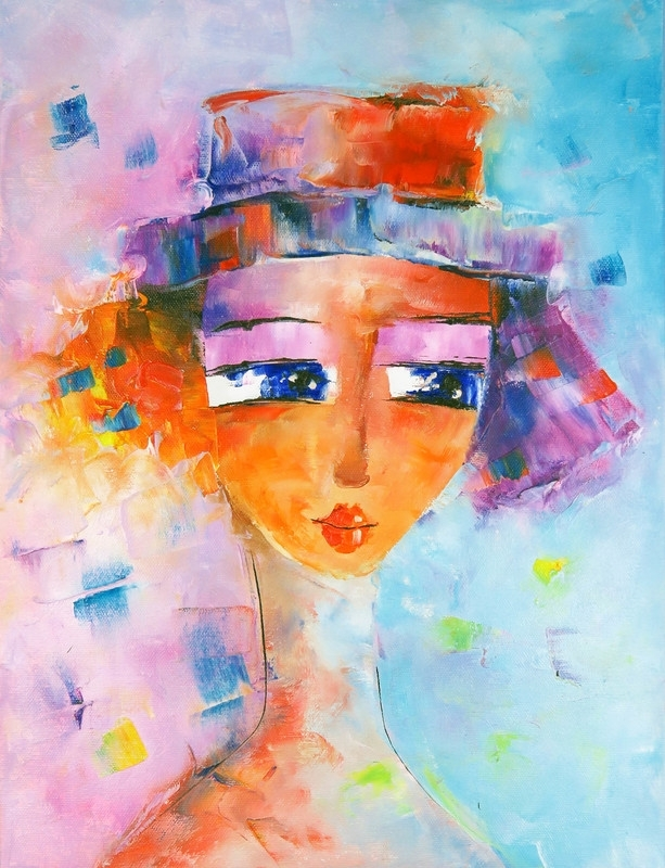 schilderij Mademoiselle, 30 x 40 cm