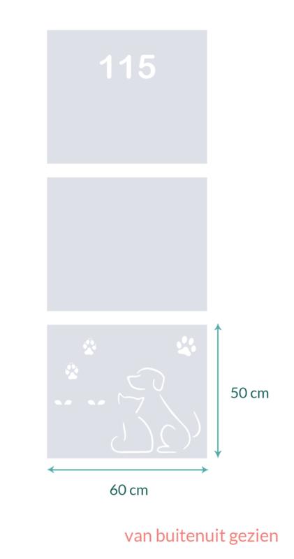 raamfolie op maat • Hond en poes 115