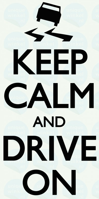 auto sticker • keep calm and drive on