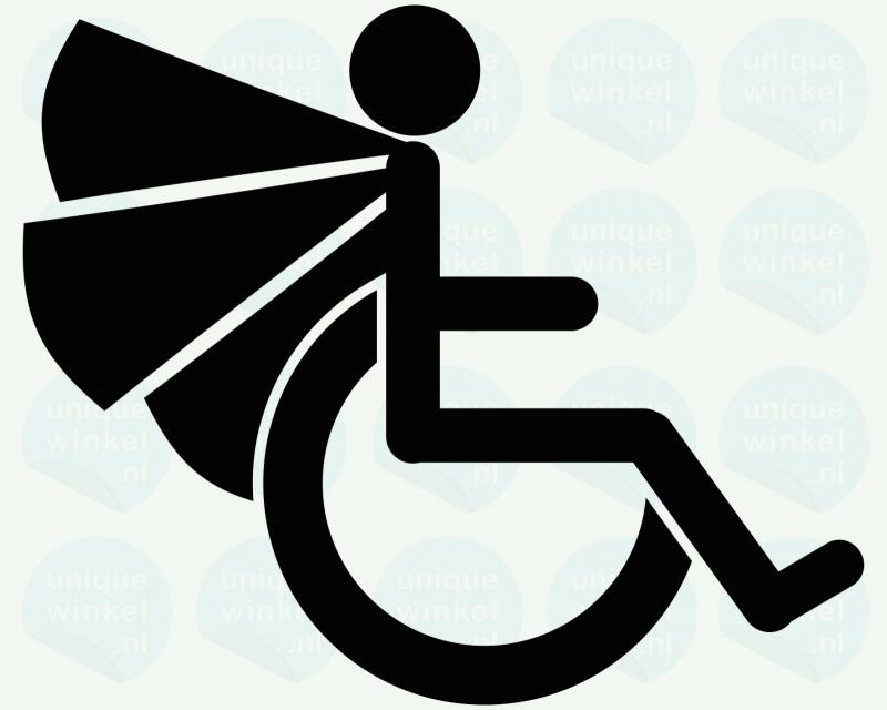 auto sticker • super rolstoel invalide