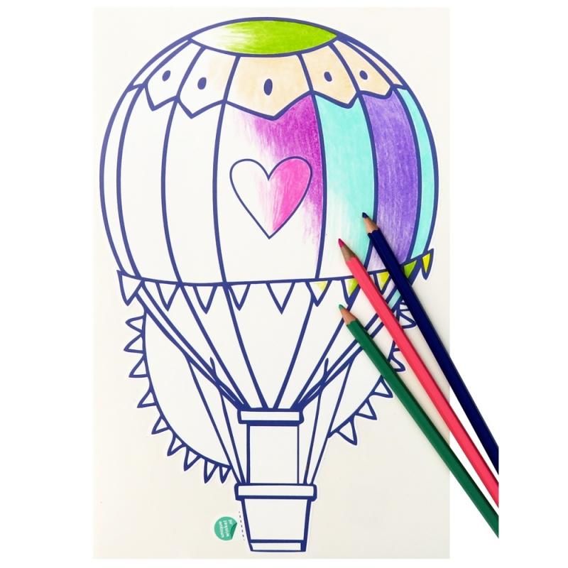 muursticker voor kinderen - luchtballon