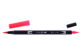 Tombow ABT DUAL BRUSH tekenpen. Kleur: cherry (815)
