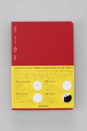 Stalogy 365Days Notebook - B6 - RED
