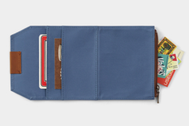 LTD TRAVELER'S Notebook Passport Size Cotton Zipper Case - Blue