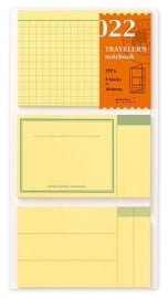 TRAVELER`S Notebook  -   Refill 022 : - Sticky Notes