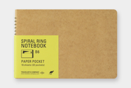 TRC SPIRAL RING NOTEBOOK - Paper Pocket B6