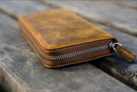 Galen Leather - 3 slots Leren Pencase - Crazy Horse Brown