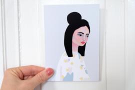 Piet en Kees A6 kaart Kimono