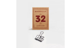 Tools to Liveby No.32 Binder Clips - BRONZE