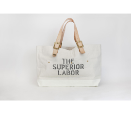 The Superior Labor - Cotton Canvas Engineer Tote Bag L White