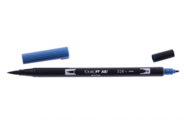 Tombow ABT DUAL BRUSH pen. navy blue (528)