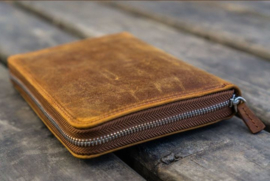 Galen Leather - 5 slots Leren Pencase - Crazy Horse Brown