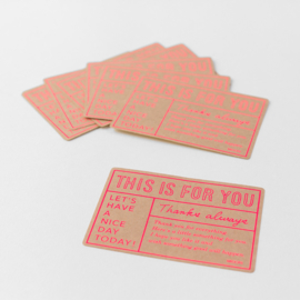 "Midori Gift Sticker - ""For You"" Kraft"