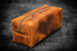Galen Leather - Leather Classic Dopp Kit & Travel Toiletry Bag - Crazy Horse Tan