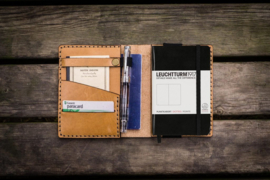 Galen Leather A6 Notebook Cover - Natural