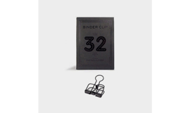 Tools to Liveby No.32 Binder Clips - BLACK