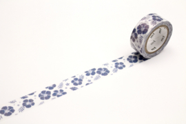 MT Masking Tape FAB HIBISCUS NAVY BLUE