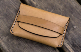 Galen Leather Flap Handmade Leather Wallet - Natural