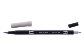 Tombow ABT DUAL BRUSH tekenpen. Kleur: grijstint cool grey (N95)