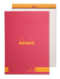 Rhodia color - Raspberry - Lined - A4
