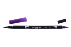 Tombow ABT DUAL BRUSH tekenpen. Kleur: imperial purple (636)