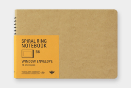 TRC SPIRAL RING NOTEBOOK Window Envelop B6