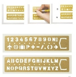 Midori BRASS Template Bookmark  - Number