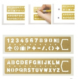 TRC BRASS Template Bookmark Alphabet