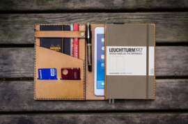 Galen Leather A5 Notebook Cover - Natural