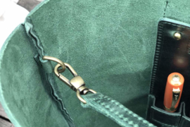 Galen Leather -Leren Tote Bag - Crazy Horse Forest Green