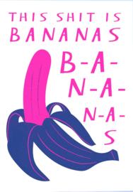 Studio Inktvis Kaart This Shit is Bananas