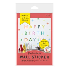 Midori Electrostatic Wall Stickers - Happy Birthday
