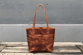 Galen Leather -Leren Tote Bag - Crazy Horse Tan