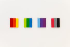 Stalogy Writable Sticky Notes, 15 x 50 mm, Set C (Light-blue, Purple, Lilac)