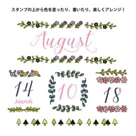 Midori Pre Inked Stamp - Plant
