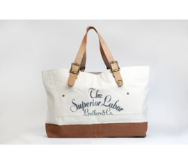 The Superior Labor - Cotton Canvas Engineer Tote Bag L Light Khako