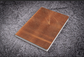 Galen Leather - Leather Notebook A5 - Crazy Horse Brown