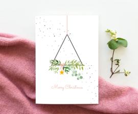 Kuukeluus - Kerstkaart krans triangel