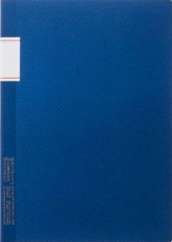 Stalogy Vintage Notebook - Lined - Blue