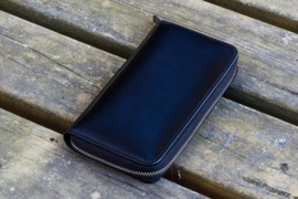 Galen Leather - 3 slots Leren Pencase Black