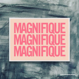 Gayle Mansfield print Magnifique (coral/pink) - A4