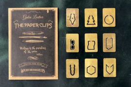 Galen Leather - Brass Paperclip set