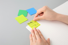 Stalogy Writable Sticky Notes, 50 x 50 mm,Set B (Lime, Green, Blue)