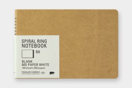 TRC SPIRAL RING NOTEBOOK - MDpaper White B6