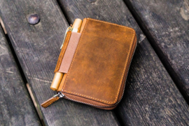 Galen Leather EDC Wallet - Crazy Horse Brown